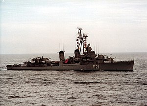 Spanish destroyer Lepanto (D-21) underway at sea, circa in the 1970s.jpg