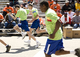 Special Olympic athletes compete in a race, during the Special Olympics, on Fort Gordon, Ga., Mar 100324-A-NF756-009