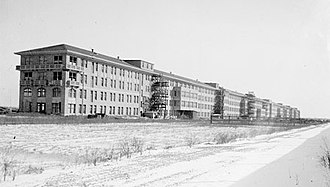 Edward Hines Jr. Veterans Administration Hospital - Main Infirmary Building shortly after construction