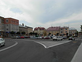 Square in Lancut.JPG
