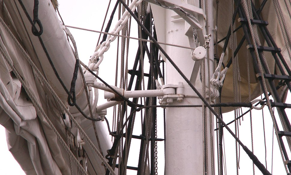 Square rigged ship yards