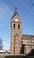 St. Katharina Alt-Hürth, Turmsüdseite mit Aufgang zur Glockenstube.jpg