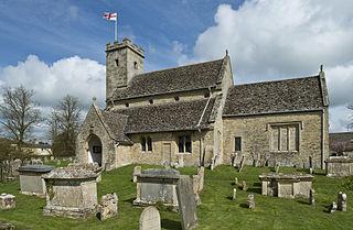 Swinbrook village in United Kingdom