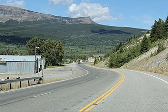 St. Mary, Montana - Image: St. Mary Montana Panorama looking NW on US89