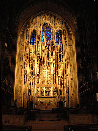 Lee Lawrie - Reredos of Saint Thomas Church, at Fifth Avenue and 53rd Street in New York City