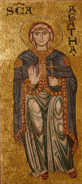 File:St Agatha mosaic - Cathedral of Monreale - Italy 2015.JPG
