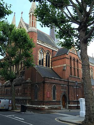 St Cuthbert's, Earls Court - Image: St Cuthberts from the NW listed building number 1266119