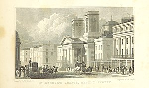 Charles Robert Cockerell - Cockerell's Hanover Chapel, in 1828