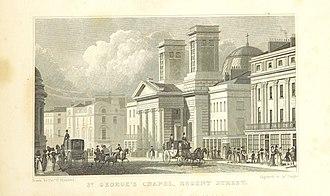 Charles Robert Cockerell - Cockerell's Hanover Chapel, in 1828
