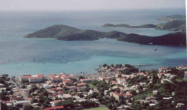 """""""St Thomas from Top (349396176)"""" by Serge Melki from Indianapolis, USA - St Thomas from TopUploaded by russavia. Licensed under Creative Commons Attribution 2.0 via Wikimedia Commons - http://commons.wikimedia.org/wiki/File:St_Thomas_from_Top_(349396176).jpg#mediaviewer/File:St_Thomas_from_Top_(349396176).jpg"""