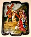 Stacja VIII Drogi Krzyżowej, Rewal, kościół pw. Najświętszego ZbawicielaP9210373-001.JPG