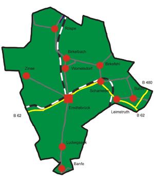 Erndtebrück - Constituent communities