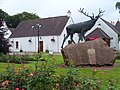 Stag Statue at Baxter's - geograph.org.uk - 885638.jpg