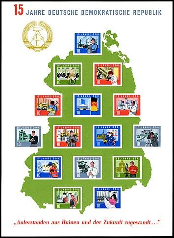Briefmarkenblocks Der Deutschen Post Der Ddr Wikipedia