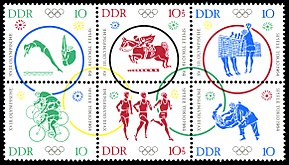 Stamps of Germany (DDR) 1964, MiNr Zusammendruck 1039 - 1044.jpg