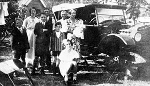 Longhorn family on Cribb Island, ca. 1936. Fam...