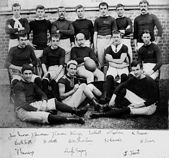 History of rugby union in Australia - Brisbane Grammar School's first Rugby Union team, 1887.
