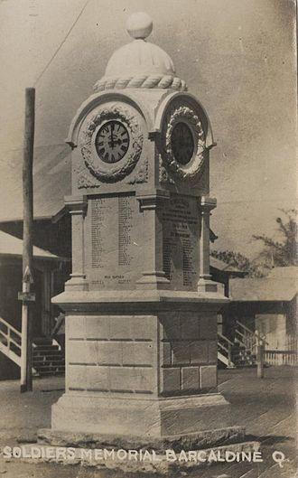 Barcaldine, Queensland - Barcaldine War Memorial, 1928