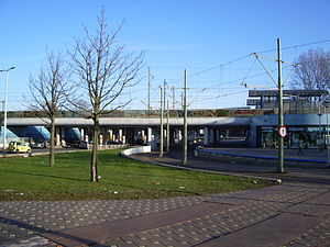 Den Haag Moerwijk railway station - North side of the railway station