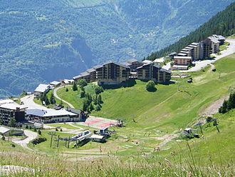 Auris, Isère - Auris-en-Oisans Ski station in Summer
