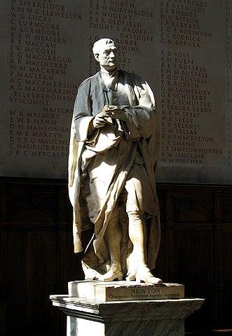 Статуя Ньютона в Тринити-колледже