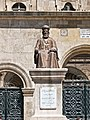 Statue of Bishop Germanos Farhat at Saint Elijah Maronite Cathedral, Aleppo, 2009.jpg