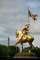 Statue of Jeanne d'Arc in Paris, Rue de Rivoli.jpg