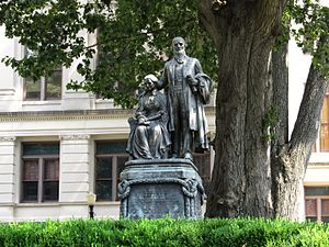 Joseph E. Brown - Statue of Georgia Civil War Governor Joseph E. Brown and his wife