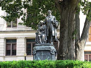 Joseph E. Brown - Statue of Georgia Civil War Governor Joseph E. Brown and his wife