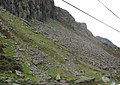 Steeply angled screes above the A4086 - geograph.org.uk - 555717.jpg