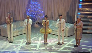 Steps (group) - Steps performing live on their 'Christmas with Steps' tour at the Manchester Apollo in December 2012