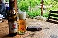 Stiegl beer served at Klobenstein Inn, Entenlochklamm Tyrol.jpg