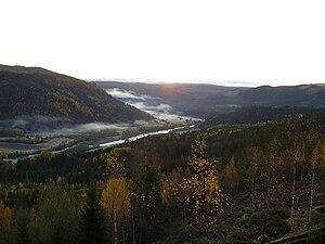 Stjørdalselva - Stjørdalen valley with Stjørdalselva