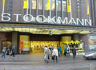 "Stockmann, Helsinki centre - The main entrance during the ""Crazy Days""."