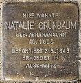 Stolperstein Bamberger Str 22 (Wilmd) Natalie Grünbaum.jpg