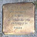 Stolperstein Bremen St Stephani - Johanna Abraham - 1903.jpg
