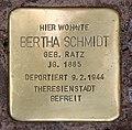 Stolperstein Darmstädter Str 1 (Wilmd) Bertha Schmidt.jpg