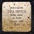 Stolperstein Gervinusstr 24 (Charl) Thea Hirsch.jpg