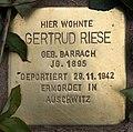 Stolperstein Pariser Str 11 (Wilmd) Gertrud Riese.jpg