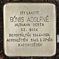 Stolperstein für Aldolfne Bonis (Nyíregyháza).jpg