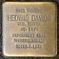 Stolpersteine Krefeld, Hedwig Davids (Kölner Straße 544).jpg