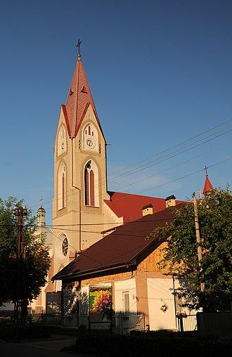 Storozhynets - Image: Storozhynets kosciol sw Anny DSC 6001 73 245 0004