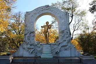 Johann Strauss II - Statue of the Waltz King in Stadtpark, Vienna