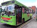Strawberry bus, St Helens - DSC00141.JPG
