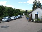Street in Luss, Loch Lomondside Visitors are not really allowed to park in the village.