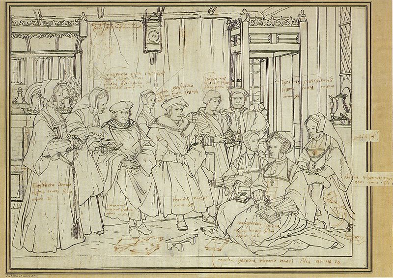 File:Study for portrait of the More family, by Hans Holbein the Younger.jpg