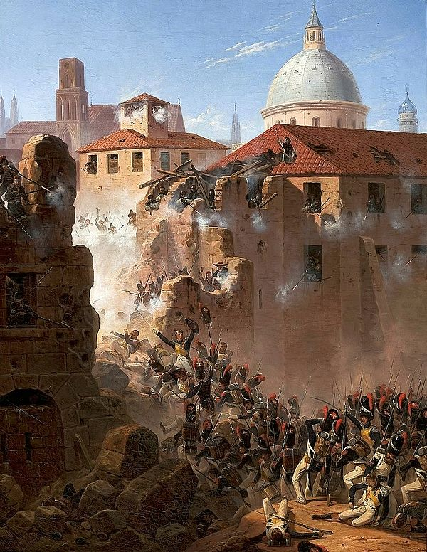 Assault on the walls of Zaragoza by January Suchodolski