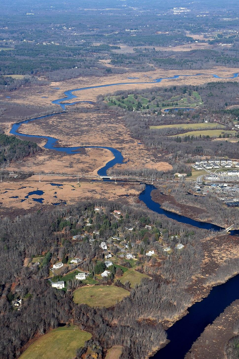 Sudbury River Wayland MA Aerial
