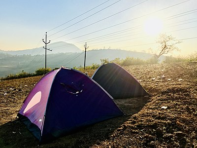 Sunrise near our camp in Araku.jpg