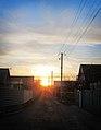 Sunset. Kominterna Ln., Melitopol, Zaporizhia Oblast, Ukraine.JPG